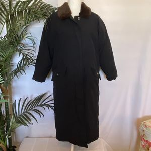 Eddie Bauer Goose Down Long Trench Coat XSP